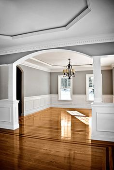 Living room dining room divider cabinetry w storage Separate living room and dining room