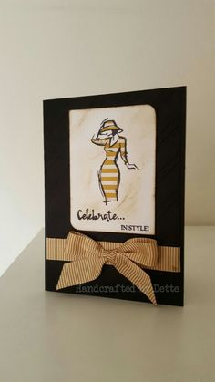 Birthday card made with the Beautiful You stamp set from Stampin Up. Made by Bernadette Maroun Handcrafted by Dette.