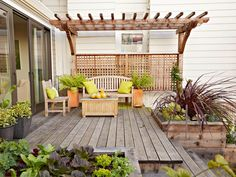 HGTV is presenting examples of small space gardens and microgardening techniques.