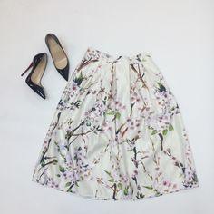 Spotted while shopping on Poshmark: Floral Print Midi Skirt! #poshmark #fashion #shopping #style #Dresses & Skirts