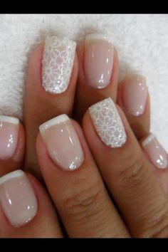 unghie per sposa, bridal nails