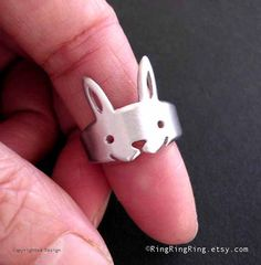 rabbit ring, Bunny legs wrap around your finger