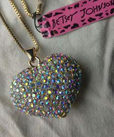 BEAUTIFUL Betsey Johnson, rhinestone heart hallow, necklace found at estate sale   Jewelry & Watches, Fashion Jewelry, Necklaces & Pendants   eBay!