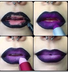 LOVE purple lips!