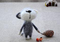 Игла войлочные кошка на заказ иглы войлочные на NeighborKitty