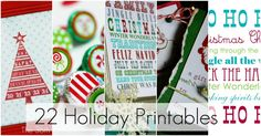 22 free holiday printables
