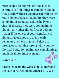 Remove compaining, criticism and judgements to allow delicious synchronicity to light up your soul!