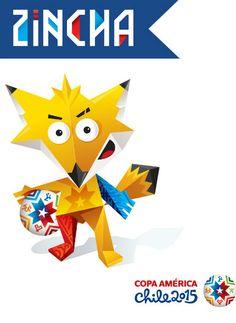 Zincha la mascota oficial de la Copa America 2015 Chile