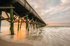 Rolling Tide; Garden City Pier, SC - Matthew Trudeau Photography