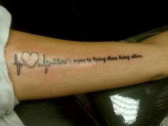 "Suicide awareness tattoo I got after I tried taking my life ""there's more to living than being alive"""