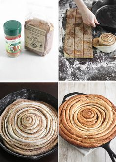 Giant Skillet Cinnamon Roll and a Fair Trade Giveaway! Recipe