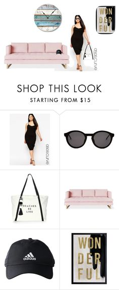 """""""partio rua"""" by agathahr on Polyvore featuring ASOS Curve, Thierry Lasry, Milly, Gus* Modern, adidas, Oliver Gal Artist Co., men's fashion e menswear"""