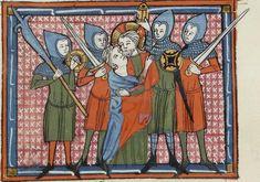 BNF Français 857 Breviari d'amor et Lettre à sa soeur, 1300-1399. France.Decorated Buckler