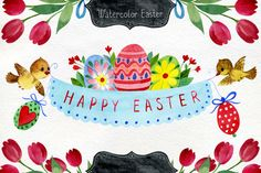 Watercolor Easter by Samira on Creative Market