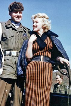1954: Marilyn Monroe visits the troops in Korea …. #marilynmonroe #pinup #monroe #normajeane #hollywoodicon #iconic