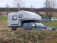 Aero one pickup camper, wohnkabine, demountable camper Truck Camper Shells, Pickup Camper, Caravan, Recreational Vehicles, Trucks, Camper, Truck, Motorhome, Campers