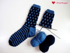 Instructions: Knit point socks with a simple Norwegian pattern – Socken Stricken Easy Knitting, Knitting For Beginners, Knitting Socks, Knitting Patterns, Knit Socks, Knitting Ideas, Baby Shower Photos, Baby Shower Gifts, Dream Catcher For Kids