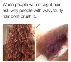 Never Brush Your Curly Hair