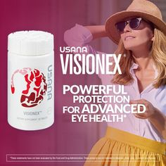Seeing is believing, right? As we age, a natural decline in visual acuity may occur. And our environment isn't helping us any. Our eyes are constantly exposed to environmental stress such as sunlight, dryness, and pollution. USANA's Visionex® provides a daily dose of powerful antioxidants that may play a critical role in maintaining long-term eye health. Learn more about eye health...  http://www.USANA-Optimizers.com