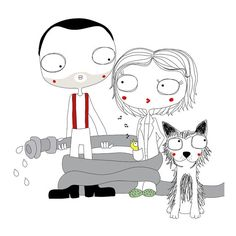 Hey, I found this really awesome Etsy listing at https://www.etsy.com/listing/234184755/custom-family-portrait-with-pet-custom