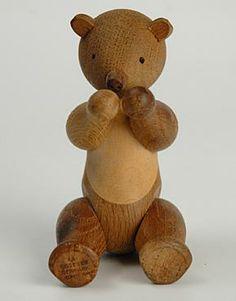 Vintage Kay Bojesen Scandinavian Design Toy Wooden Bear :: Quintessentia