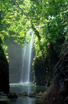 Fiji: The Bouma Waterfalls in Fiji's Bouma National Heritage Park on Taveuni Island are three separate falls, accessible by hiking from the park's visitor centre 5kms through the tropical forest. There are natural swimming holes beneath each waterfall.