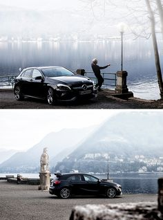 The Mercedes-AMG A 45 in Italy with #mbsocialcar photographed by Nico Soica. Model: Daniel Chirico. [Mercedes-AMG A 45 | combined fuel consumption 7.3–6.9 l/100km | combined CO2 emission 171–162 g/km | http://mb4.me/efficiency_statement]