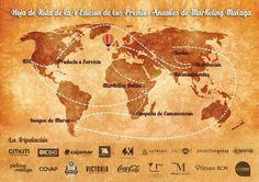 Hoja de Ruta de los V Premios Anuales de #Marketing organizados por el Club de #Marketing de #Malaga y celebrados el 30 de octubre de 2013.