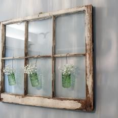 Window Pane Nursery Wall Decoration