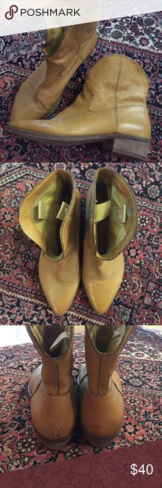 Nicole Brown Leather Boots Never worn pointy toe leather boots. nicole Shoes Ankle Boots & Booties
