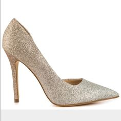 Guess Gold & Silver Degrade Pointed-Toe Pumps Shine bright like a diamond in these sparkle pumps made to stun! Fashioned after Christian Louboutin's glitter degradé Pigalle Follies these shoes are a fun and bold choice to mix up any wardrobe. Low- laying arches and rubber soles make them comfortable for a stroll in the mall or even dancing the night away! Buy now before they are glitz, glam, gone! Guess Shoes Heels