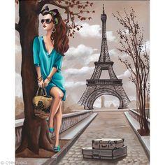Eiffel 40 x 50 cm Illustration Parisienne, Paris Illustration, Illustrations, Fashion Illustration Chanel, Art Parisien, Pop Art, Paris Vintage, Image 3d, Paris Wallpaper