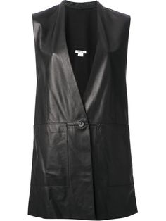 Helmut Lang Leather Waistcoat - Stylesuite - Farfetch.com