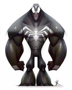 Venom , jason kim on ArtStation at https://www.artstation.com/artwork/6wW9w