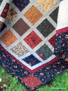 Great for the screened in porch  Patchwork Lap Quilt Sofa Quilt or Quilted by PatsPassionQuilteds