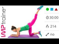 Allenamento GAG Intenso - Esercizi Per Dimagrire e Tonificare Gambe, Addominali e Glutei - YouTube
