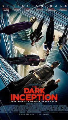 Funny pictures about Inception meets The Dark Knight. Oh, and cool pics about Inception meets The Dark Knight. Also, Inception meets The Dark Knight. Chris Nolan, Christopher Nolan, Best Movie Posters, Cool Posters, Batman Meme, The Dark Knight Trilogy, Christian Bale, Popular Movies, Wonders Of The World