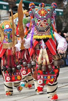 Kukeri festival BulgariaKukeri - is a traditional Bulgarian ritual to scare away evil spirits, with costumed men performing the ritual. The costumes cover most of the body and include decorated wooden masks of animals and large bells attached to the belt. Shiroka Luca festival.  Not far from our chalets www.pamporovovillas.com