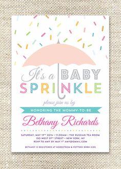 Umbrella Sprinkles / Baby Shower Invitation by CityBeeDesign, $44.00