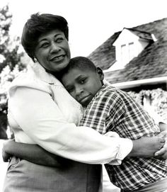 Ella Fitzgerald with her son,Ray Brown Jr.