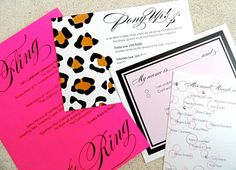 So excited about this new 4-piece invitation!  I want to have a party just to send these out!!!