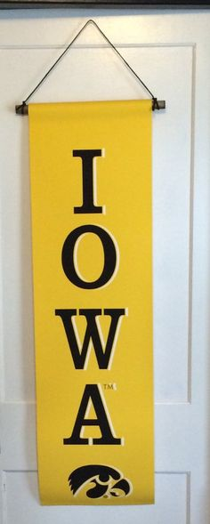 Iowa Hawkeye Tigerhawk Canvas Banner, Garden Flag, Man Cave Decor, Christmas…