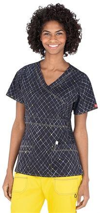 Medical Uniforms and Nursing Scrubs - Dickies Gen Flex Off The Grid Mock Wrap Scrub Top
