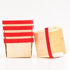 Wooden Berry Basket: Red