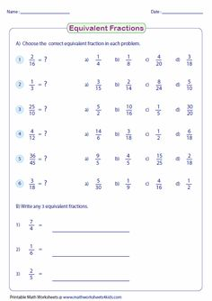 www.mathworksheets4kids.com fractions equivalent shade-pie-large ...