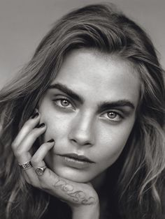 'The Face' Cara Delevingne by Alasdair McLellan for UK Vogue January 2014