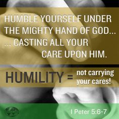 Keep it simple... humility is...?