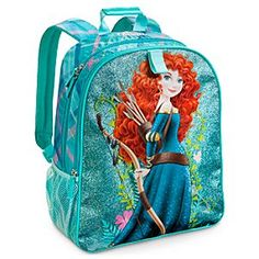 Disney Merida Backpack - Personalizable | Disney StoreMerida Backpack - Personalizable - Merida's sparkling backpack has plenty of room to support an epic quest every day! Goes great with her matching Lunch Tote (sold separately) for both supplies and snacks on the brave road to adventure.