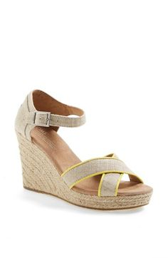 TOMS Burlap Wedge Sandal available at #Nordstrom
