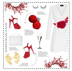 I'M THE BOSS by uniqueimperfection on Polyvore featuring Rasario, Yves Saint Laurent, Mark Cross, Pippa Small, Unicorn Lashes, ULTA and Riedel